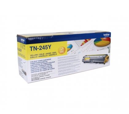 BROTHER Toner cartridge original Toner TN-245Y  HL-3140CW/-3150CDW/-3170CDW MFC-9140CDN/-9330CDW/-9340CDW/ DCP-9020CDW yellow Toner TN-245Y  HL-3140CW/-3150CDW/-3170CDW MFC-9140CDN/-9330CDW/-9340CDW/ DCP-9020CDW yellow
