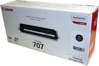 CANON Toner cartridge original Cart. 707  LBP5000/LBP5100 black (9424A004) Cart. 707  LBP5000/LBP5100 black (9424A004)