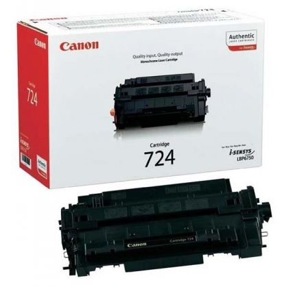 CANON Toner cartridge original Cart. CRG 724H  i-SENSYS LBP6750/6750dn black high capacity (3482B002) Cart. CRG 724H  i-SENSYS LBP6750/6750dn black high capacity (3482B002)