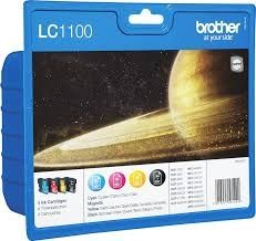 BROTHER Ink original Value Pack (bk/c/m/y) LC-1100VALBPDR  MFC-6490CW/790CW/DCP-385C Value Pack (bk/c/m/y) LC-1100VALBPDR  MFC-6490CW/790CW/DCP-385C