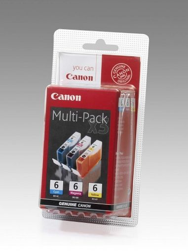 CANON Ink original Ink Cart. BCI-6 BLISTER Multipack C/M/Y  i560/S-800/i865/905/965/950/ 990/9000/9100/9950//iP3000/ 4000/5000/8500/MP750/760/780 (4706A029) Ink Cart. BCI-6 BLISTER Multipack C/M/Y  i560/S-800/i865/905/965/950/ 990/9000/9100/9950//iP3000/