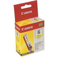 CANON Ink original Ink Cart. BCI-6Y  S-800/i560/865/905/965/950/ 990/9000/9100/9950//iP3000/ 4000/5000/8500//MP750/760/780 yellow (4708A002) Ink Cart. BCI-6Y  S-800/i560/865/905/965/950/ 990/9000/9100/9950//iP3000/ 4000/5000/8500//MP750/760/780 yellow (47
