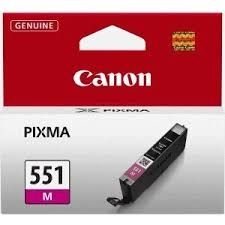 CANON Ink original Ink Cart. CLI-551M  MG6350/MG5450/IP7250/MX925 magenta (6510B001) Ink Cart. CLI-551M  MG6350/MG5450/IP7250/MX925 magenta (6510B001)