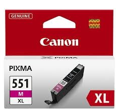 CANON Ink original Ink Cart. CLI-551XL M  MG6350/MG5450/IP7250/MX925 magenta high capacity (6445B001) Ink Cart. CLI-551XL M  MG6350/MG5450/IP7250/MX925 magenta high capacity (6445B001)
