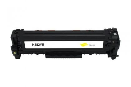 HP Toner cartridge compatible CF382A HP Color LaserJet Pro MFP M476nw/M476dn/M476dw , Page yield  2700 , Yellow Color Type Reman CF382A HP Color LaserJet Pro MFP M476nw/M476dn/M476dw , Page yield  2700 , Yellow Color Type Reman