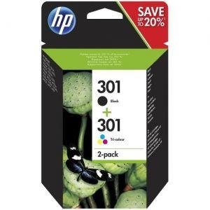 HP Ink original Ink Cart N9J72AE No.301  DeskJet1000/1050/2050/ 2050S/3000/3050 Combo Pack (1xSchwarz/1xFarbig C/M/Y) Ink Cart N9J72AE No.301  DeskJet1000/1050/2050/ 2050S/3000/3050 Combo Pack (1xSchwarz/1xFarbig C/M/Y)