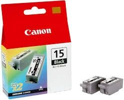 CANON Ink original Ink Cart. BCI-15BK  I70/80/IP90 (2 x Ink) black (8190A002) Ink Cart. BCI-15BK  I70/80/IP90 (2 x Ink) black (8190A002)