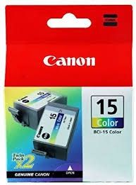 CANON Ink original Ink Cart. BCI-15C  I70/80 (2 x Ink) colour (8191A002) Ink Cart. BCI-15C  I70/80 (2 x Ink) colour (8191A002)