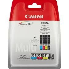 CANON Ink original Ink Cart. CLI-551 C/M/Y/BK Multipack blistered (6509B009) Ink Cart. CLI-551 C/M/Y/BK Multipack blistered (6509B009)