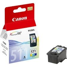 CANON Ink original Ink Cart. CL-511  MP240/MP250/MP260/MP270/MP280/ MP490/MP495/iP2700/MX320/MX330 MX340/MX350/MP230 colour (c/m/y) (2972B001) Ink Cart. CL-511  MP240/MP250/MP260/MP270/MP280/ MP490/MP495/iP2700/MX320/MX330 MX340/MX350/MP230 colour (c/m/y)