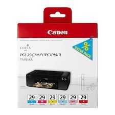 CANON Ink original Ink Cart. PGI-29 Multi Pack  Pixma Pro 1 (c/m/y/pc/pm/r) (4873B005) Ink Cart. PGI-29 Multi Pack  Pixma Pro 1 (c/m/y/pc/pm/r) (4873B005)