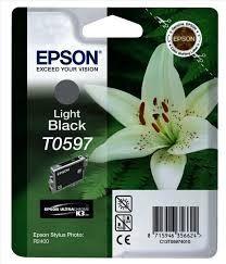 EPSON Ink original Ink Cart. C13T05974010  Stylus Photo R2400 light black Ink Cart. C13T05974010  Stylus Photo R2400 light black