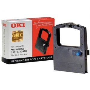 OKI Ribbon original Ribbon ML 320/390 black Flatbed (09002310) Ribbon ML 320/390 black Flatbed (09002310)