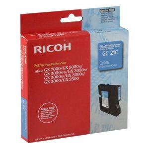 RICOH Gel ink original Gel Cart.  GX2500 3000/3000S/3000SF/3050SFN/ 5050N/7000 Type GC-21C cyan (405533) Gel Cart.  GX2500 3000/3000S/3000SF/3050SFN/ 5050N/7000 Type GC-21C cyan (405533)