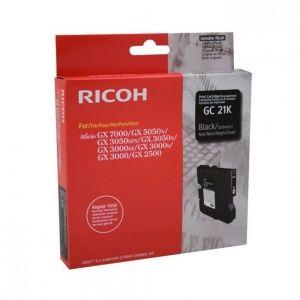 RICOH Gel ink original Gel Cart.  GX2500/ 3000/3000S/3000SF/3050SFN/ 5050N/7000 Type GC-21K black (405532) Gel Cart.  GX2500/ 3000/3000S/3000SF/3050SFN/ 5050N/7000 Type GC-21K black (405532)