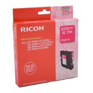 RICOH Gel ink original Gel Cart.  GX2500/ 3000/3000S/3000SF/3050SFN/ 5050N/7000 Type GC-21M magenta (405534) Gel Cart.  GX2500/ 3000/3000S/3000SF/3050SFN/ 5050N/7000 Type GC-21M magenta (405534)