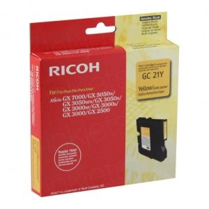 RICOH Gel ink original Gel Cart.  GX2500/ 3000/3000S/3000SF/3050SFN/ 5050N/7000 Type GC-21Y yellow (405535) Gel Cart.  GX2500/ 3000/3000S/3000SF/3050SFN/ 5050N/7000 Type GC-21Y yellow (405535)