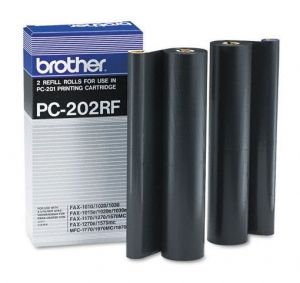 BROTHER  Refill Rolls PC-202RF  Fax 1010/1010e/1010plus/ 1020/1030/1030e/1030plus/ MFC-1025 (2 Rolls) Refill Rolls PC-202RF  Fax 1010/1010e/1010plus/ 1020/1030/1030e/1030plus/ MFC-1025 (2 Rolls)
