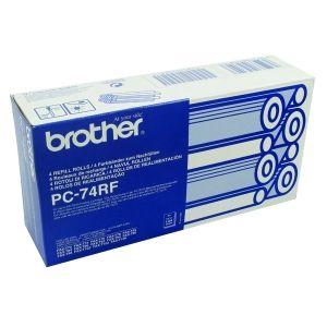 BROTHER  Refill Rolls PC-74RF  Fax T72/T74/T76/T78/ T7-Plus/T92/T94/T96/T98/T102/ T104/T106 (4 Rolls) Refill Rolls PC-74RF  Fax T72/T74/T76/T78/ T7-Plus/T92/T94/T96/T98/T102/ T104/T106 (4 Rolls)