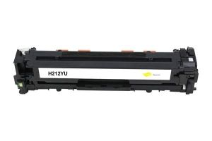 HP Toner cartridge compatible Cartridge 731Y/ CF212A HP LaserJet Pro 200 color M251n/M251nw, MFP M276n/M276nw; Canon i-Sensys LBP7100Cn/7110Cw, MF8280Cw/MF8230Cn , Page yield  1800 , Yellow Color Type Reman Cartridge 731Y/ CF212A HP LaserJet Pro 200 color